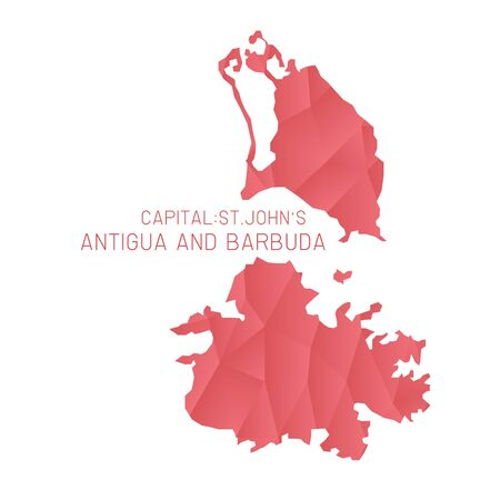barbuda: Antigua and Barbuda map geometric texture background