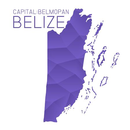 belize: Belize map geometric texture background Illustration
