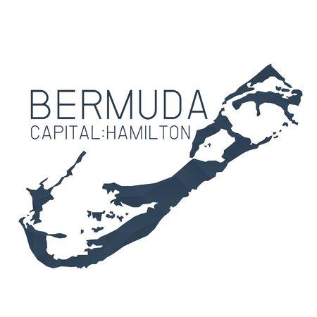 Bermuda map geometric texture background