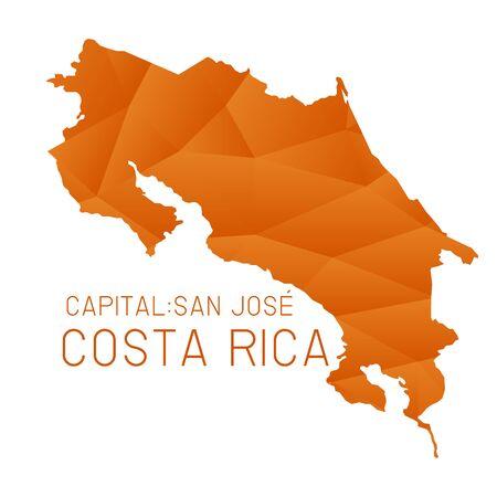 Costa Rica map geometric texture background