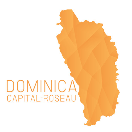 dominica: Dominica map geometric texture background