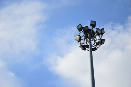 energy picture: Spotlight in sky background