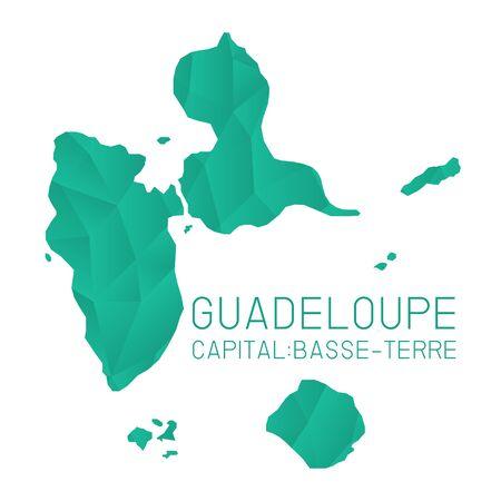 guadeloupe: Guadeloupe map geometric texture background