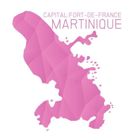 martinique: Martinique map geometric texture background Illustration