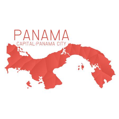 panama: Panama map geometric texture background