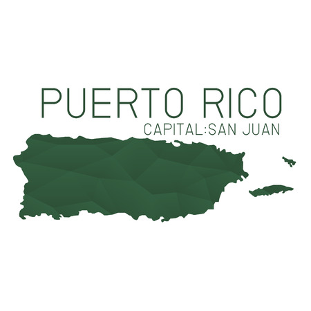 puerto rico: Puerto Rico map geometric texture background