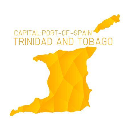 tobago: Trinidad and Tobago map geometric texture background