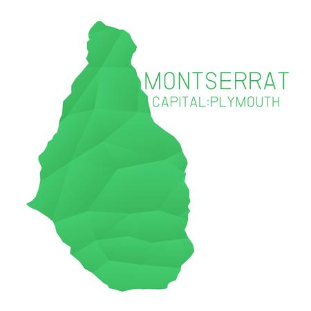montserrat: Montserrat map geometric texture background