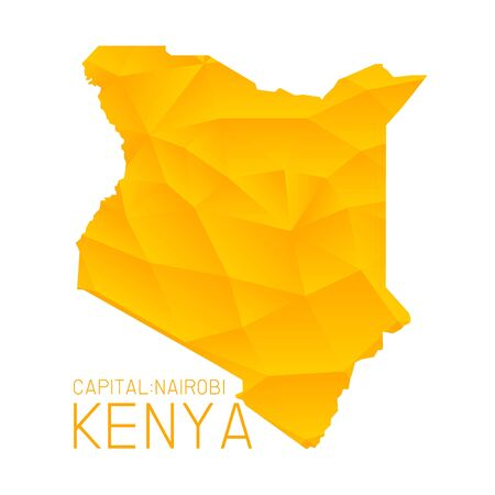 kenya: Kenya map geometric texture background Illustration