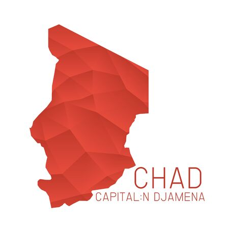 chad: Chad map geometric texture background
