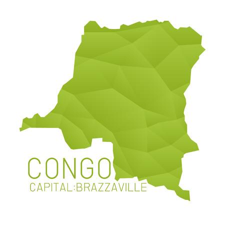 Congo: Congo map geometric texture background Illustration