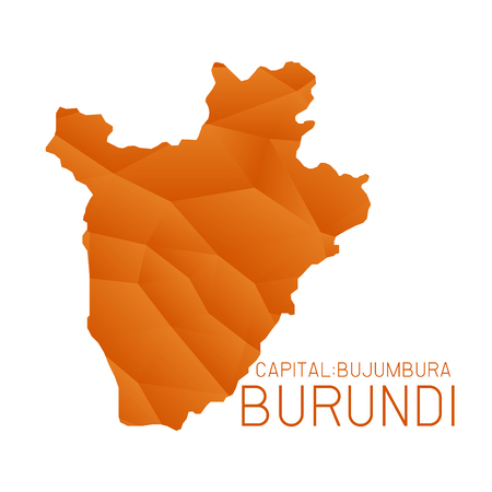 burundi: Burundi map geometric texture background