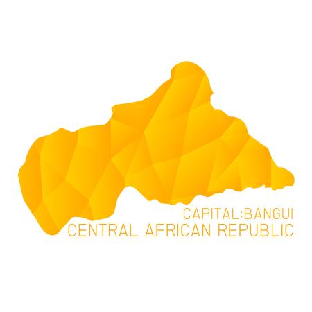 central african republic: Central African Republic map geometric texture background Illustration