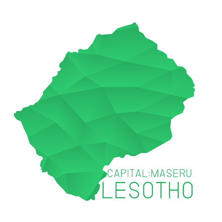 lesotho: Lesotho map geometric texture background