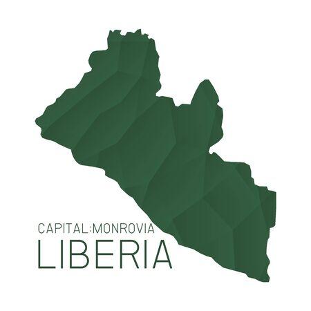 liberia: Liberia map geometric texture background