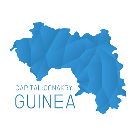 guinea: Guinea map geometric texture background Illustration