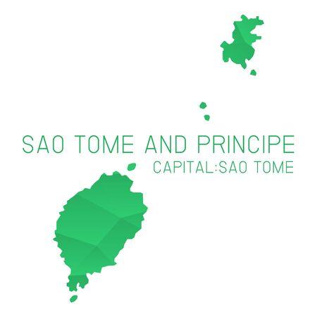 principe: Santo Tomé y Príncipe mapa de fondo textura geométrica