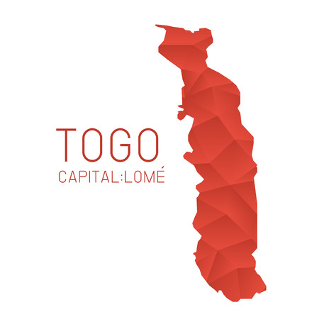 togo: Togo map geometric texture background Illustration