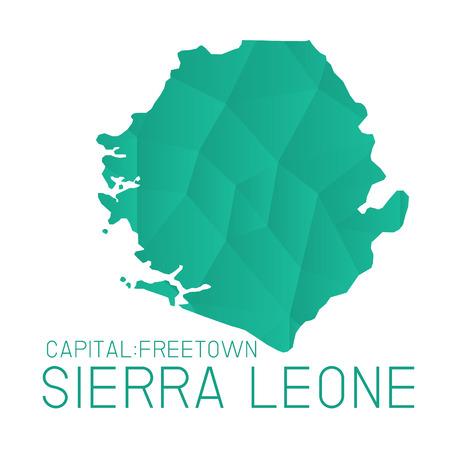 leone: Sierra Leone map geometric texture background