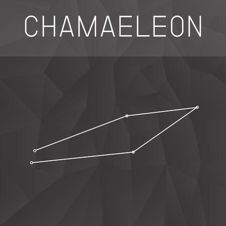 chameleon: Chameleon Constellation Illustration