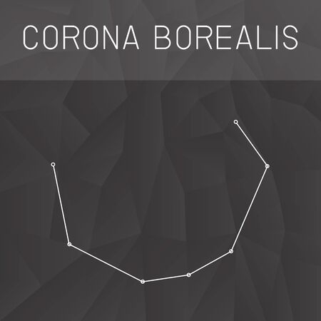 corona: Corona Borealis constellation Illustration