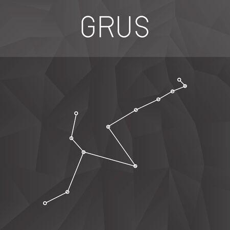 constelacion: Grus Constellation, Vectores