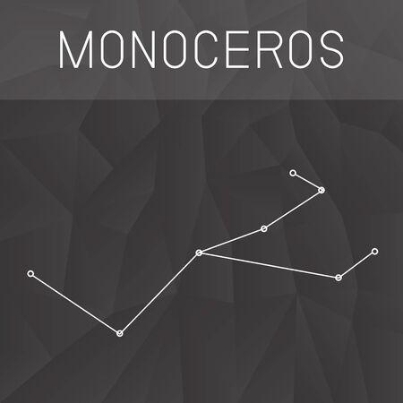 constelacion: constelaci�n de Monoceros Vectores