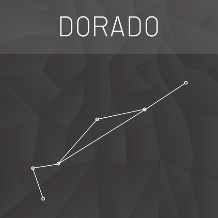 constelacion: constelaci�n Dorado Vectores
