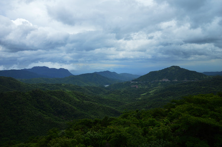 backdop: Landscape of mountain in Petchaboon province,Thailand, Selective focus.