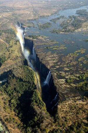 Victoria Falls, helicopter view