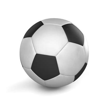 football kick: Illustration of a classic black and white football (soccer ball).