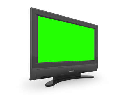 an insertion: Flat screen TV with green screen to allow easy insertion of your own image.