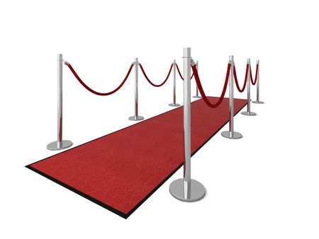Red carpet vip illustration isolated on white. Please see my portfolio for different views. Stock Illustration - 5390749