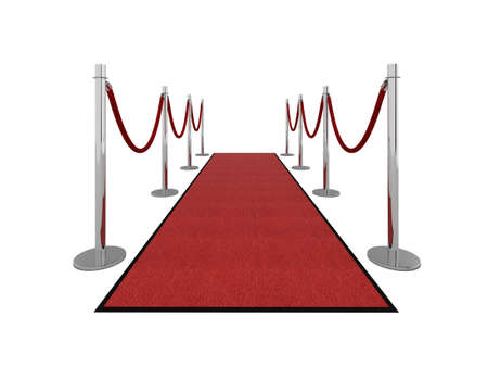 Red carpet vip illustration isolated on white. Please see my portfolio for different views. Stock Illustration - 5390812