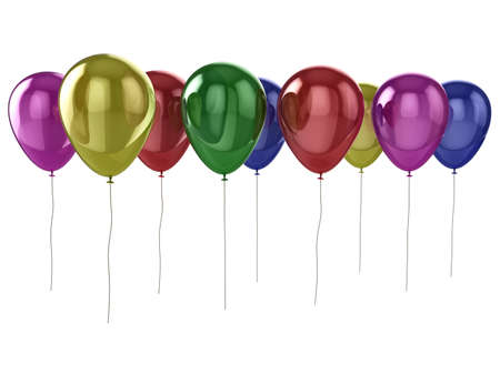 Shiny coloured (colored) balloons isolated on a white background Stock Photo - 5460900