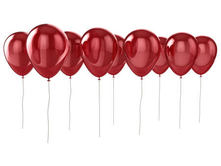 Shiny red balloons isolated on a white background. Stock Photo - 5460903