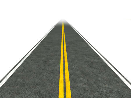 Illustration of a straight road disappearing into the distance. illustration