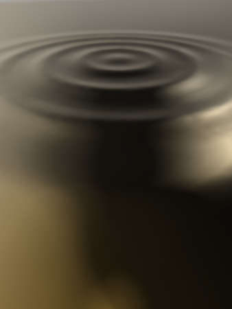Realistic illustration of liquid gold ripples illustration