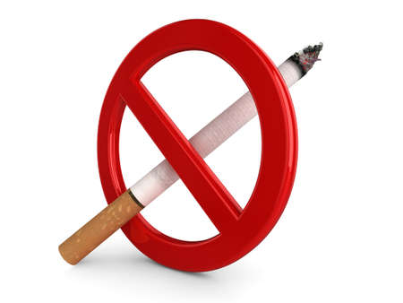 High quality, realistic 3d illustration of a No Smoking sign. illustration