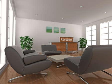 superficie: Ilustraci�n 3D de un asiento de �rea de recepci�n y espera.  Foto de archivo