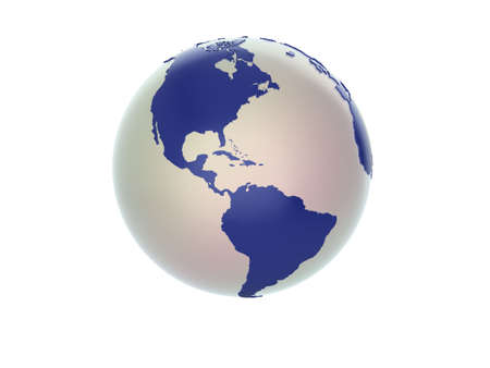 Quality illustration of a 3d globe. See my portfolio for variations and different views. Stock Illustration - 5578395