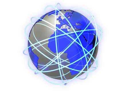 World network concept illustration, isolated on a white background. Stock Illustration - 5578423
