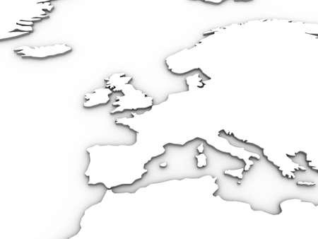 """multiplicar: Blanco 3d ilustraci�n Europa. Consejo: Trate de establecer el modo de capa a """"multiplicar"""" y utilizando como una superposici�n efectiva en su dise�o."""