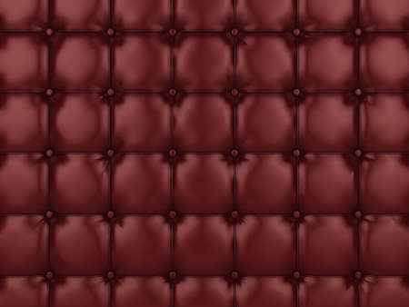 Realistic illustration of shiny buttoned leather. Please see my portfolio for alternative colors. Stock Photo