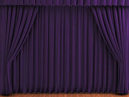 Purple theater curtains. Realistic illustration of velvet curtains. See my portfolio for alternative colors.
