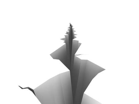 Illustration of a large crack on a white surface. Please see my portfolio for more in the series. Stock Illustration - 5664585