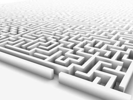 High quality illustration of a large maze or labyrinth. Please see my portfolio for more in the series. Stock Photo