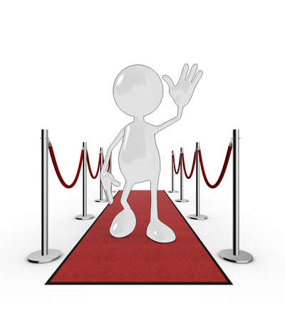 3d cartoon celebrity on the red carpet. Please see my portfolio for more in the series. Stock Photo - 5700280