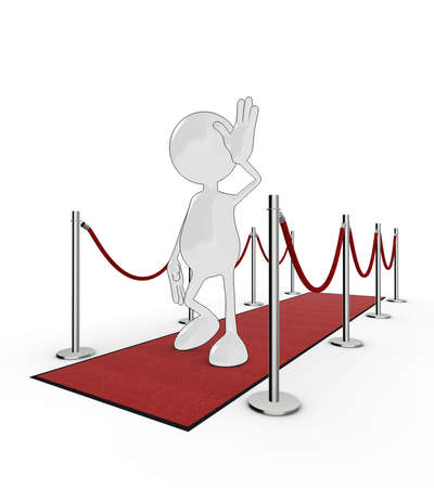3d cartoon celebrity on the red carpet. Please see my portfolio for more in the series. Stock Photo - 5700314