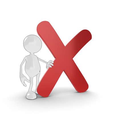 cruz roja: personaje de dibujos animados 3D con gran Cruz Roja. Por favor vea mi cartera para obtener m�s informaci�n en la serie.  Foto de archivo